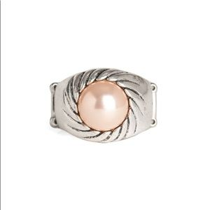 Brown Pearl Ring Stretch NWT